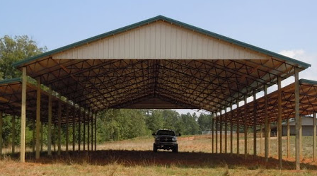 enclosed big built and dsc metal pole shelter barns barn open smith fully