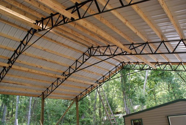 click on any image to view a larger photo and slideshow - Metal Roof Trusses