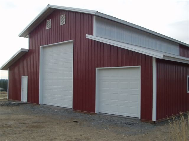 40x60x16 garage warehouse shop pole barn steel building for Steel barn home kits